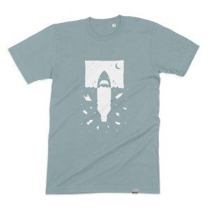 Anti Plastik Hai Männer T-Shirt, Fair und Bio, von Daniel Bandholtz aus Bonn