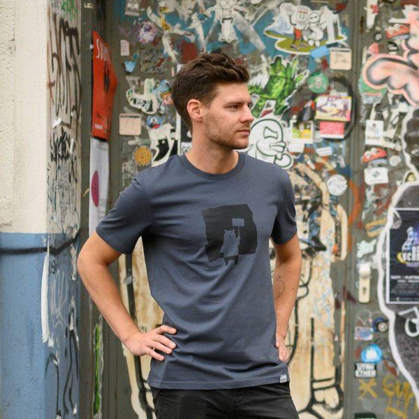 Protest Bär T-Shirt Männer: Fair, Bio und handbedruckt