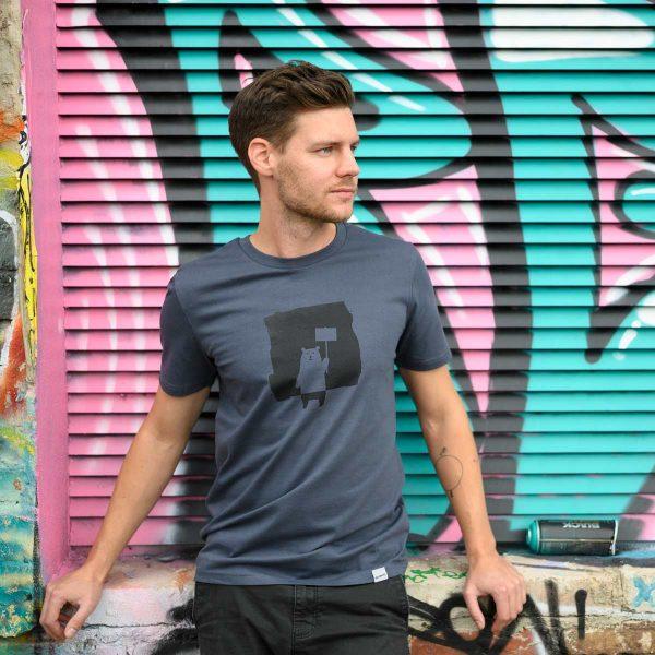 Daniel Bandholtz Bonn T-Shirt Baer: Fair, Bio und handbedruckt