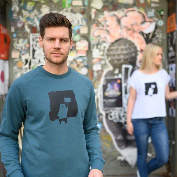Daniel Bandholtz Pullover: Fair, Bio und handbedruckt