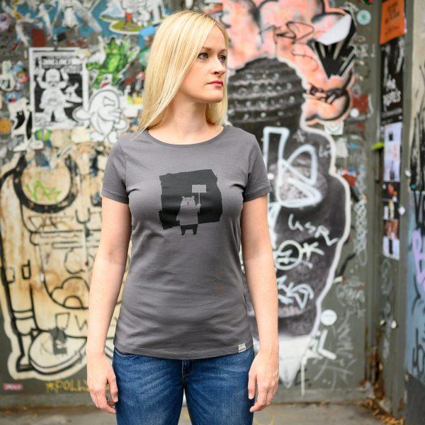 Daniel Bandholtz Bonn T-Shirt Bär Damen: Fair, Bio und handbedruckt
