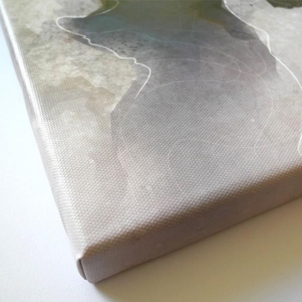 Detailansicht abstrakte Mini-Leinwand von Daniel Bandholtz aus Bonn
