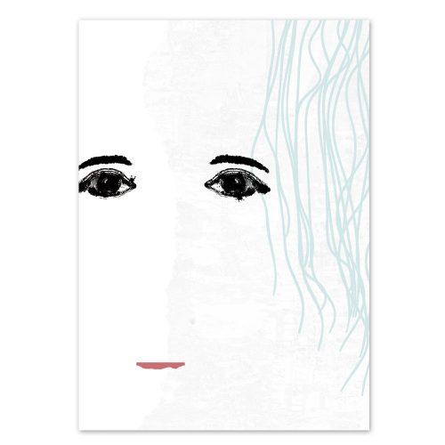 Daniel Bandholtz abstraktes Gesicht Postkarte 7 - Kunst und Design aus Bonn Köln