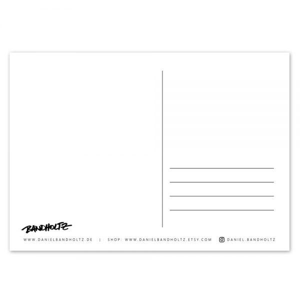 Daniel Bandholtz Postkarte Rückseite - Kunst und Design aus Bonn Köln