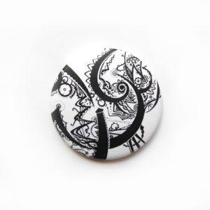 Abstraktes Muster Magnet: Design-Accessoires von Daniel Bandholtz, Bonn