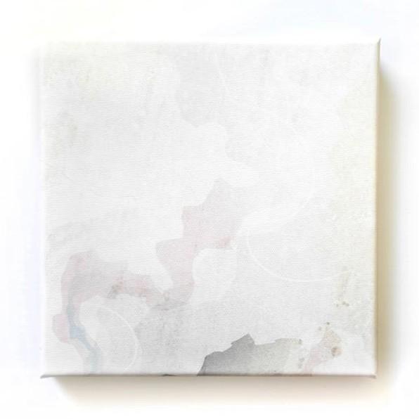 Abstrakte, weisse Mini-Leinwand von Daniel Bandholtz aus Bonn