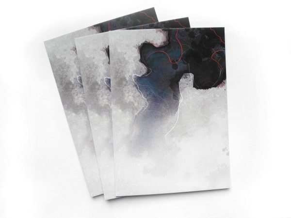 Bläuliche abstrakte Kunst Postkarten von Daniel Bandholtz aus Bonn