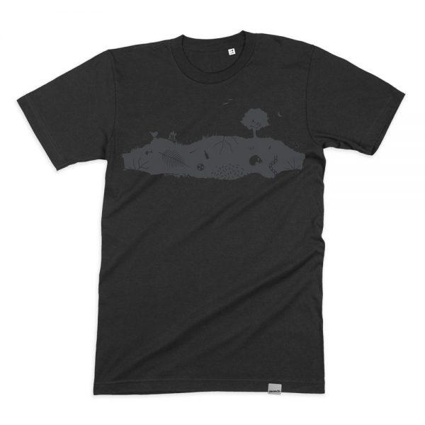 Dark Earth T-Shirt von Daniel Bandholtz. Aus Bio Baumwolle und Fair gehandelt. Handbedruckt von Daniel Bandholtz in Bonn.