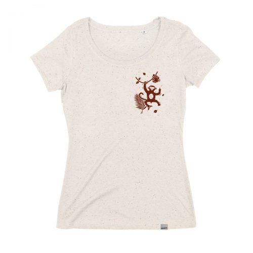Frecher Affe Frauen T-Shirt - handbedruckt von Daniel bandholtz aus Bonn