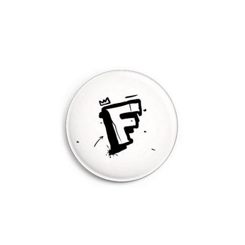 Buchstabe F Graffiti Button von Daniel Bandholtz