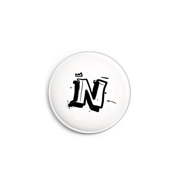 Buchstabe N Graffiti Button von Daniel Bandholtz