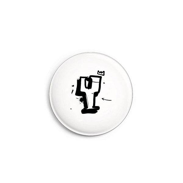 Buchstabe Y Graffiti Button von Daniel Bandholtz