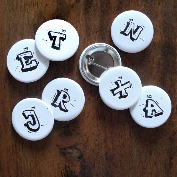 Buchstaben Buttons von Daniel Bandholtz