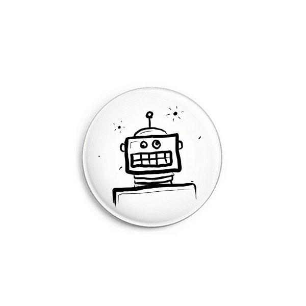 Roboter Button von Daniel Bandholtz